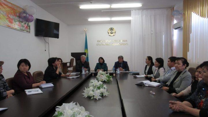 Встреча с членами первичной профсоюзной организации Департамента статистики Кызылординской области